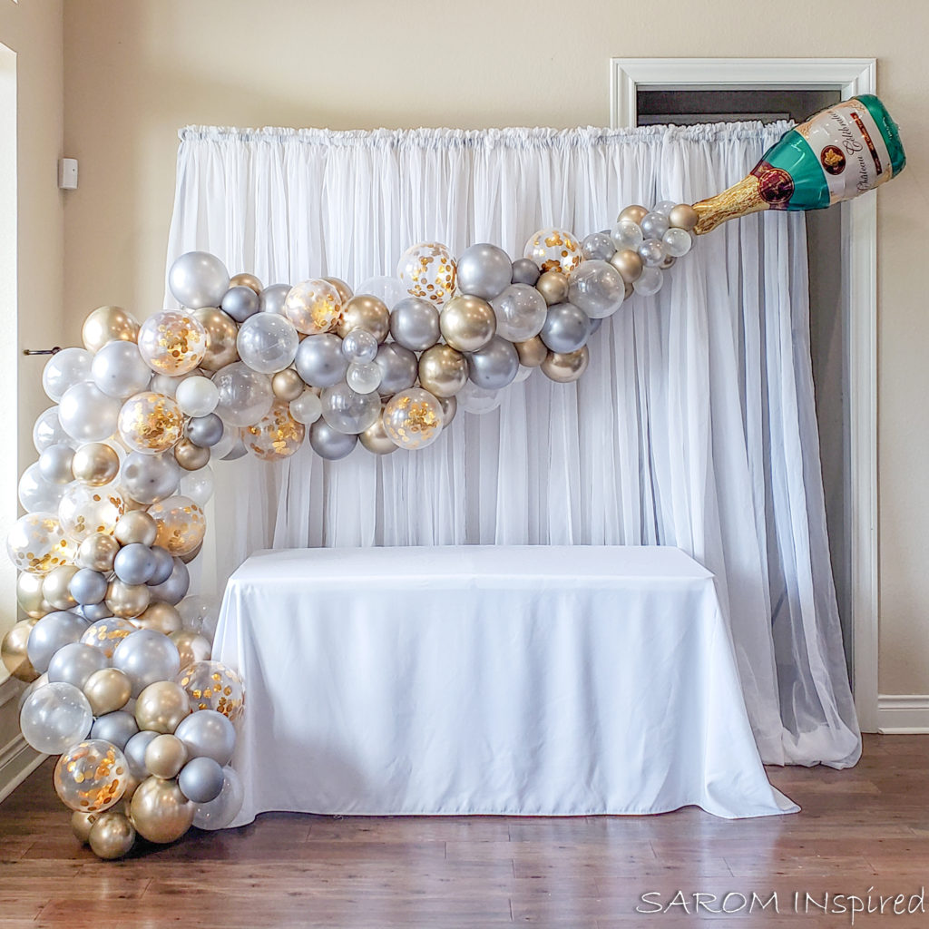 Champagne Bubbles Balloon Arch Sarom Inspired